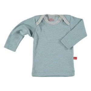 Limobasics T-shirt met lange mouwen Streepjes Denim Blauw/ Grijs