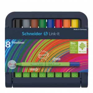 Schneider Link-It Fineliner 0,4 mm (8 kleuren)