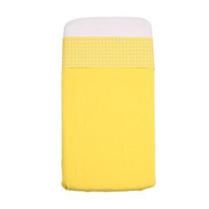 Mundo Melocoton Laken 'Lis' wieg geel