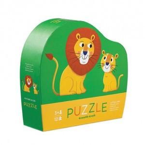 Crocodile Creek puzzel mini kleine leeuw (12 stukken)