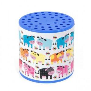 Janod Loeidoos Kleurrijke koeien in de wei blauw