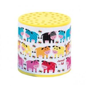 Janod Loeidoos kleurrijke koeien in de wei geel