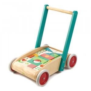 Tender Leaf Toys Loopwagen met blokken