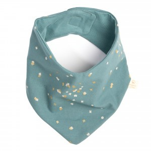 Nobodinoz Lucky Bandana Slab Gold Confetti/Magic Green