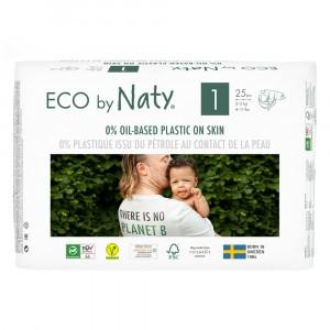 Naty Eco Wegwerpluiers Maat 1 (25 stuks)