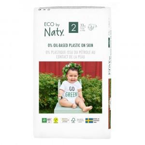 Naty Eco Wegwerpluiers Maat 2 (33 stuks)