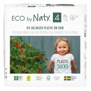 Naty Eco Wegwerpluiers Maat 4 (26 stuks)