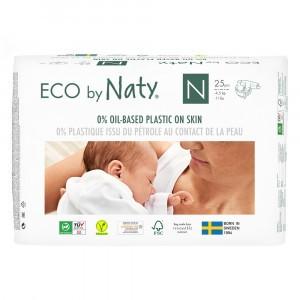Naty Eco Wegwerpluiers maat 0 (25 stuks)