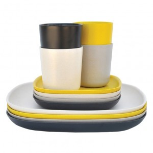 Ekobo Lunch Set (Zwart, Stone, Wit Geel)