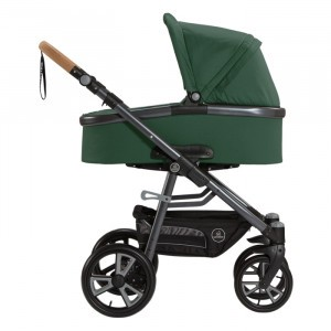 Naturkind Kinderwagen + Reiswieg Lux Salbei