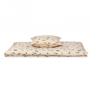 Liewood Beddengoed Carl Safari Sandy Mix 140 x 200 cm