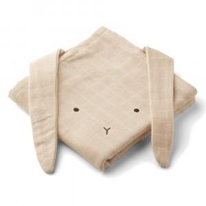 Liewood Tetradoeken (2 pack) Hannah Konijn Sandy