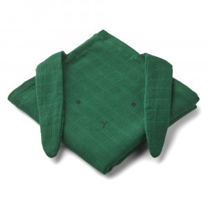 Liewood Hannah Tetradoeken (2 pack) Konijn Garden Green