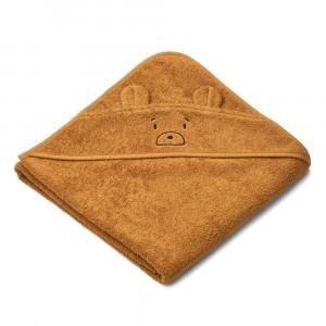 Liewood Albert Badcape Baby Mr Bear Golden Caramel
