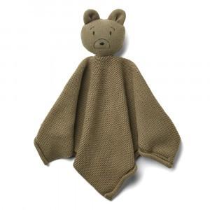 Liewood Milo Knit Knuffeldoekje Mr Bear Khaki