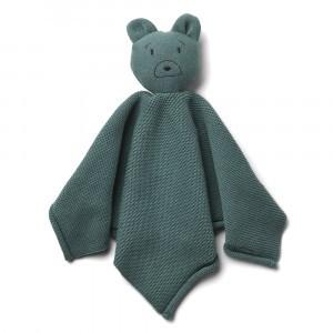 Liewood Milo Knit Knuffeldoekje Mr Bear Whale Blue