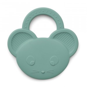 Liewood Gemma Silicone Bijtring Muis Peppermint