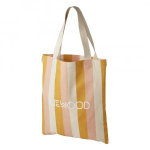Liewood Tote Bag Small Stripe Peach/Sandy/Yellow Mellow