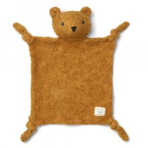 Liewood Lotte Knuffeldoekje Mr Bear Golden Caramel