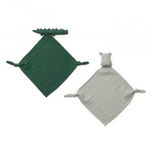 Liewood Yoko Mini Knuffeldoekje (2-pack) Safari Green Mix