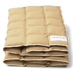 Liewood Jalle Junior Dekbed Stripe: Sandy/Golden Caramel 100 x 140 cm