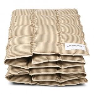 Liewood Jalle Junior Dekbed Stripe: Sandy/Oat 100 x 140 cm