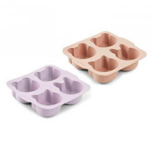 Liewood Silicone Bakvormen (2-pack) Light Lavender Rose Mix