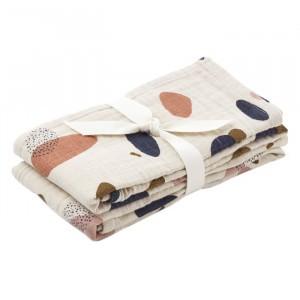 Liewood Tetradoeken (2 pack) Bubbly Sandy
