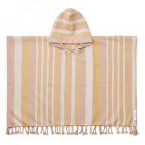 Liewood Roomie Poncho Stripe Peach/Sandy/Yellow Mellow