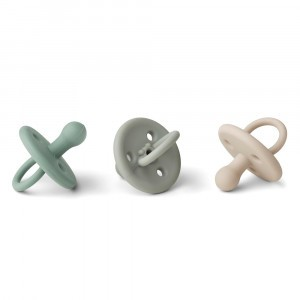 Liewood Silicone Fopspeen (3-pack) Peppermint Multi Mix 0-6m