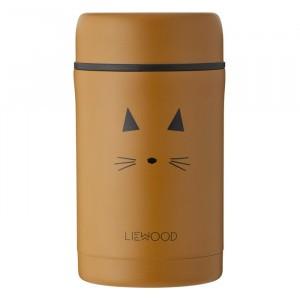 Liewood Thermosbox (500 ml) Kat Mosterd