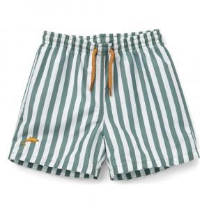 Liewood Duke Boardshort Stripe Peppermint/White