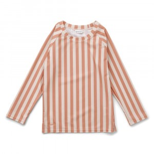 Liewood Noah UV T-shirt lange mouwen Stripe Coral Blush/Creme