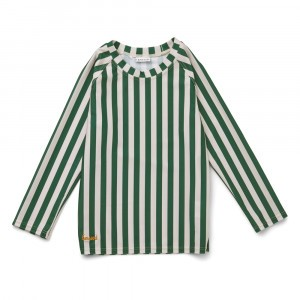 Liewood Noah UV T-shirt lange mouwen Stripe Garden Green/Sandy