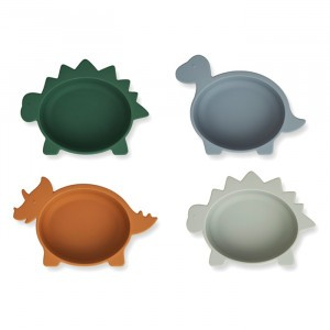Liewood Silicone Kommetjes Dino Blue Multi Mix (4 pack)