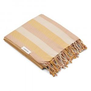 Liewood Mona Beach Handdoek Stripe Peach/Sandy/Yellow Mellow
