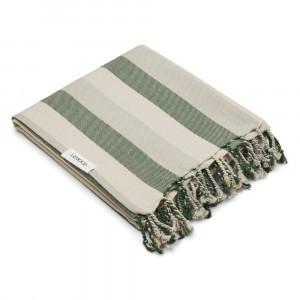 Liewood Mona Beach Handdoek Stripe Garden Green/Sandy/Dove Blue