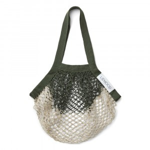 Liewood Aldo Mesh Tote Bag Hunter Green/Sandy Mix