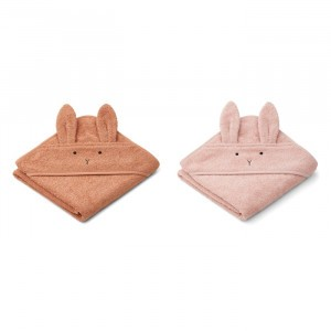 Liewood Badcape Baby (2-pack) Rabbit Tuscany Rose Mix
