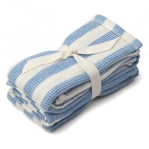 Liewood Leah Tetradoeken (2 pack) Stripe Sky Blue/Creme