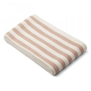 Liewood Beach Handdoek Stripe Pale Tuscany/Creme