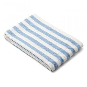 Liewood Beach Handdoek Stripe Sky Blue/Creme