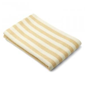 Liewood Beach Handdoek Stripe Wheat Yellow/Creme