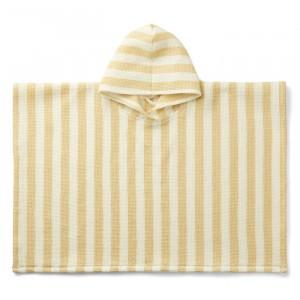 Liewood Paco Poncho Stripe Wheat Yellow/Creme
