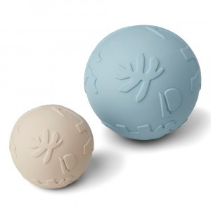 Liewood Thea Baby Bal (2-pack) Dino Sandy Sea Blue Mix