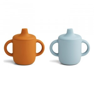 Liewood Neil Silicone Drinkbeker (2-pack) Mustard/Sea Blue Mix