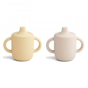 Liewood Neil Silicone Drinkbeker (2-pack) Sandy Wheat Yellow Mix