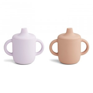 Liewood Neil Silicone Drinkbeker (2-pack) Light Lavender Rose Mix