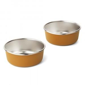 Liewood Edgar RVS Kommetjes (2-pack) Golden Caramel