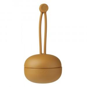 Liewood Philip Silicone Speenhouder Golden Caramel